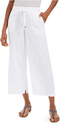 Style&Co. Style & Co Wide-Leg Linen Capri Pants