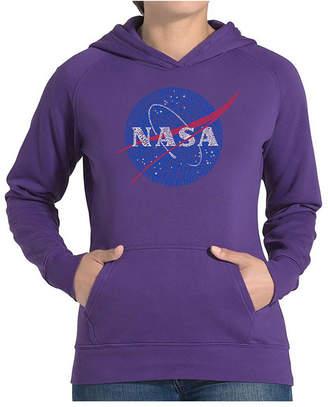 La Pop Art Women Word Art Hooded Sweatshirt -Nasa Most Notable Missions