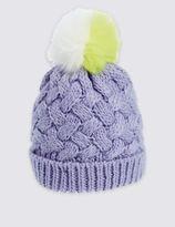 Marks and Spencer Kids' Fur Pom Hat