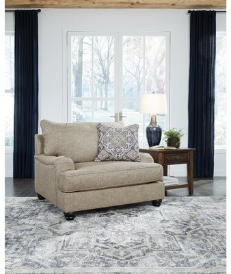 """Thumbnail for your product : Charlton Home Redhook 48"""" Wide Polyester Chair and a Half"""