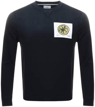 Kent And Curwen Stone Roses Lemon Sweatshirt Black