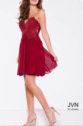 Jovani Burgundy Cocktail Dress