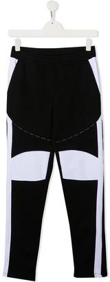 Balmain Kids TEEN colour-block track trousers