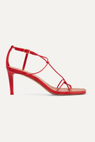 Zimmermann Knotted Leather Sandals - Red