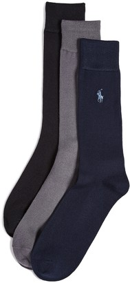 Polo Ralph Lauren 3 Pack Supersoft Flat Knit Socks