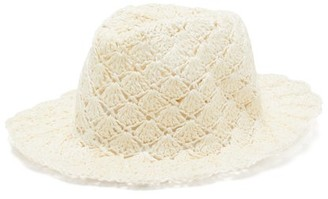 Reinhard Plank Hats - Eli Paper-straw Fedora Hat - Womens - White