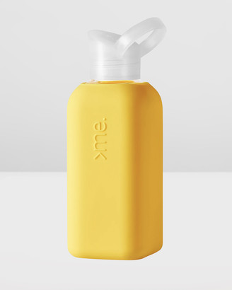 SquireMe - Yellow Water Bottles - Chromatic Collection 500ml Glass Water Bottle - Size One Size at The Iconic