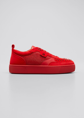 Christian Louboutin Men's HappyRui Spikes Tonal Platform Sneakers