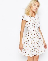 Iska Rose Print Tea Dress