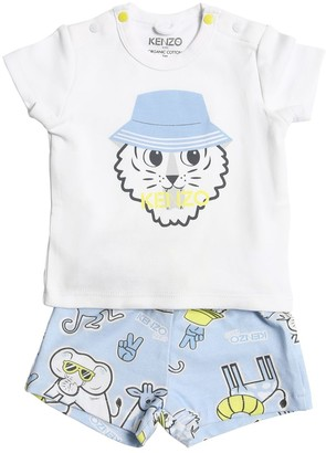 Kenzo Kids Print Organic Cotton T-shirt & Shorts