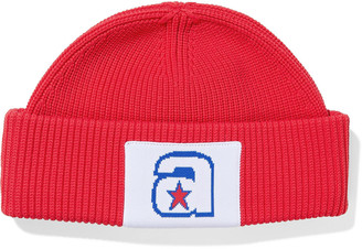 Alexander Wang Star A Appliqued Ribbed-knit Beanie