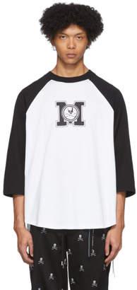 mastermind WORLD Black and White Baseball T-Shirt