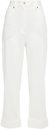 Brunello Cucinelli Linen And Cotton-blend Terry Straight-leg Pants