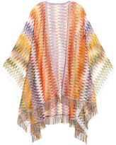 Missoni Fringed Crochet-knit Poncho - Orange