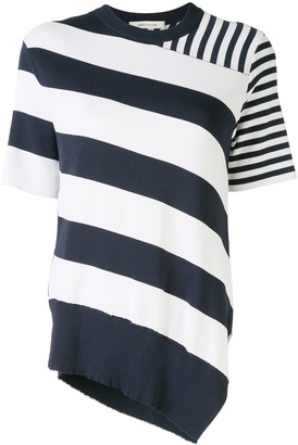 Cédric Charlier Multi-Striped Asymmetric Knitted Top