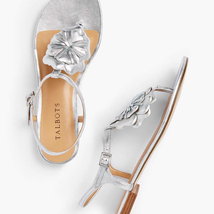 Metallic Flower Sandals Keri Nappa Leather eE9WI2YDHb
