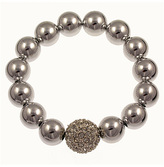 Bee Charming Trendy Silver Ball Bracelet