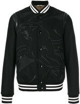 Valentino panther print bomber jacket
