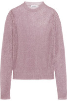 Jil Sander Metallic Open-knit Sweater - Pink