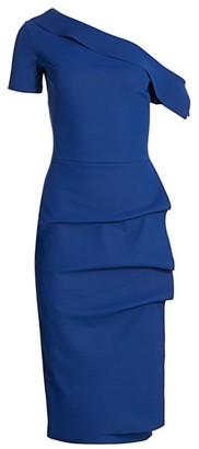 Chiara Boni Arabela Draped One-Shoulder Dress
