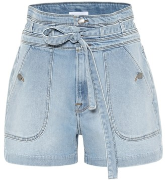 Frame Triple high-rise denim shorts