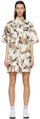 Kenzo Beige Tropic Camo Shirt Dress