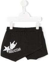 Le Petit Coco Rockstar print wrap shorts - kids - Cotton/Spandex/Elastane - 4 yrs
