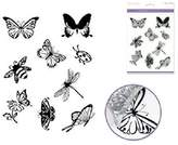 """Multicraft Imports NOM115066 Multicraft Clear Stamps, 5.5"""" x 7"""" Sheet, Flying Friends"""