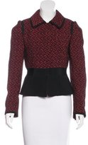 Dolce & Gabbana Tweed Long Sleeve Jacket