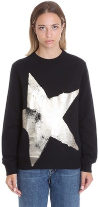 Golden Goose Athena Sweatshirt In Black Cotton