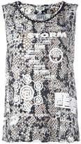 Kenzo snakeskin printed vest top