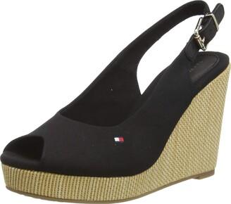 Tommy Hilfiger Women's Iconic Elena Sling Back Wedge Open Toe Sandals