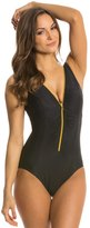 Miraclesuit Suit Yourself Blitz Zip Up One Piece Swimsuit 8137972