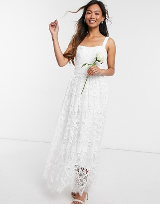 French Connection Summer White Sleeveless Bridal Dress