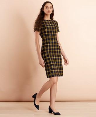 Brooks Brothers Plaid Wool-Blend Sheath Dress