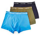 Calvin Klein Underwear Cotton Stretch 3 Pack Blue, Navy & Green