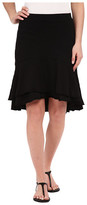 Mod-o-doc Slub Jersey Double Tiered High-Low Skirt