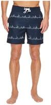 Original Penguin City Stripe Fixed Stretch Volley Men's Swimwear