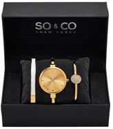 So&Co Women&s 5297 Gold Watch Set