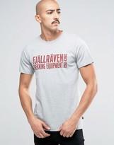 Fjäll Räven T-Shirt With Block Logo In Gray