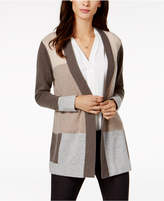 Charter Club Cashmere Colorblocked Cardigan, Created for Macy's