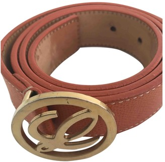 Loewe Orange Leather Belts