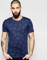 ONLY & SONS T-Shirt with All Over Floral Reverse Print