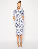 Asos Wiggle Dress in Summer Days Print