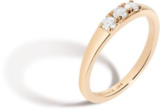 AUrate New York Bold Diamond Stacker Ring