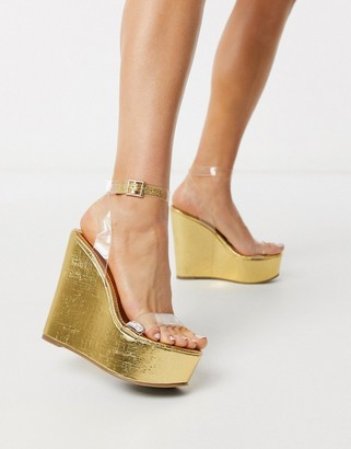ASOS DESIGN Takeover wedges in clear