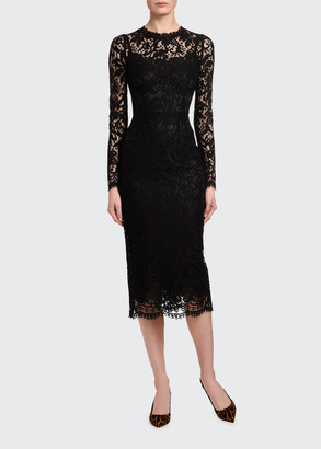 Dolce & Gabbana Heavy-Lace Cocktail Dress