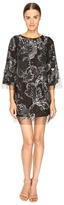 Marchesa Tunic in Tulle w/ Crystal and Beaded Embroidery Women's Dress