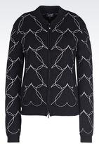 Armani Jeans Heart Print Blouson