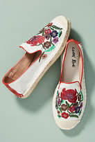 Coral Blue Embroidered Espadrilles